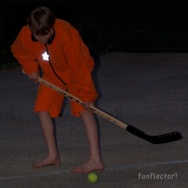 Stern Reflektor-Anhänger für Hockeyspieler, Fahrradfahrer und Fußgänger. Gut für Jacken, Ranzen oder Sporttaschen.