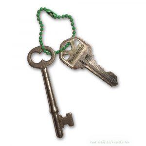 Grüne Kugelkette als Schlüsselkette für Schlüsselanhänger