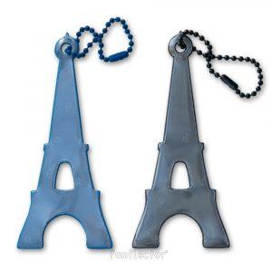 Dezente funflector Paris Eiffelturm Reflektor-Anhänger für Globetrotter, Paris-Fans, Spaziergänger und Reisebegeisterte. Gut an Taschen, Rucksäcken oder Kleidung zu befestigen