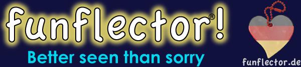 funflector Reflector-Anhänger logo