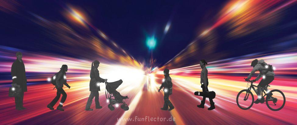 reflektoren für fußgänger